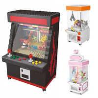 Zrk clasic mini blocos de construção dos desenhos animados lutador modelo de jogo clip boneca tijolos para crianças presente sala jogo arcade lutador vs loz balody