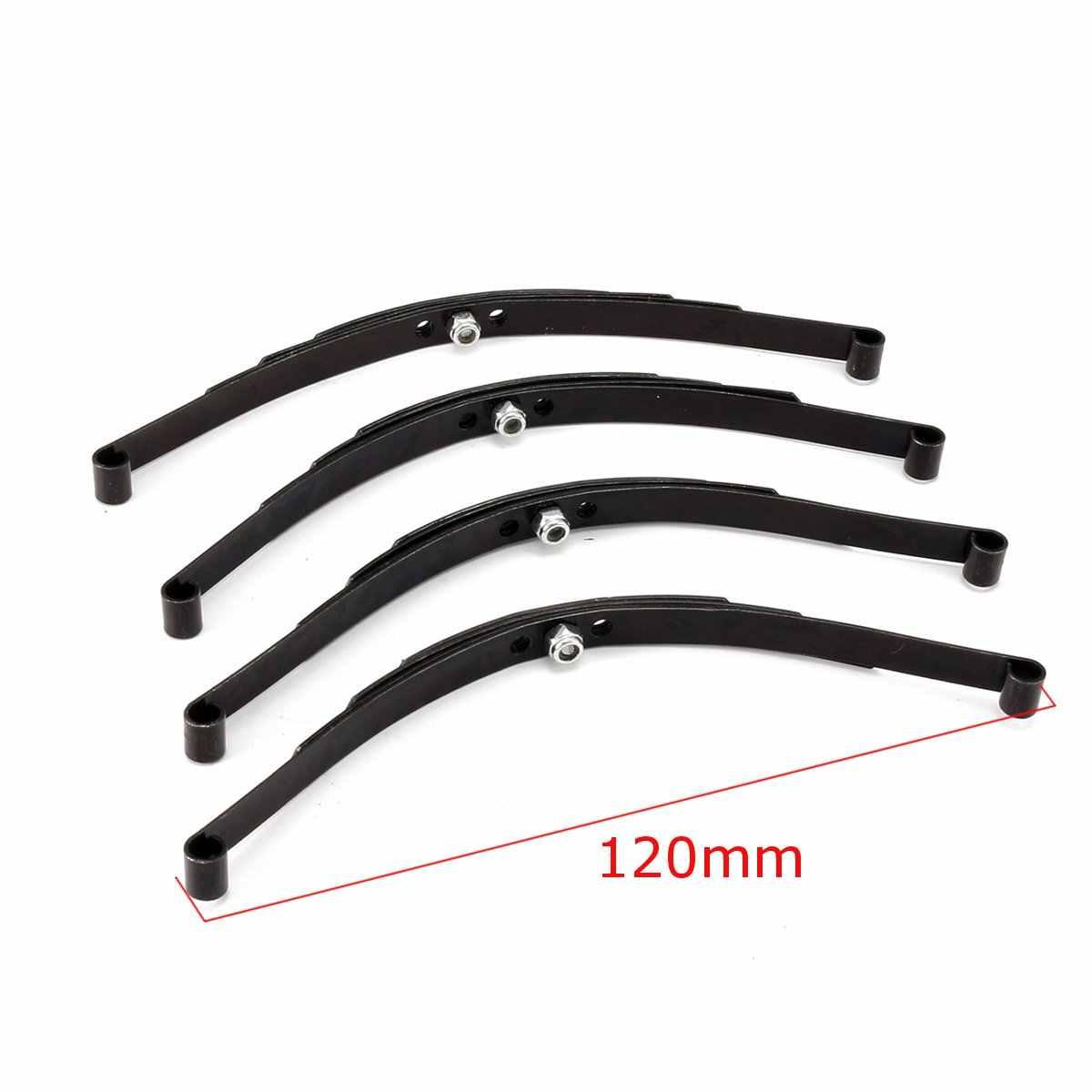 4 pcs 1/10 Bladveren Set HighLift Chassis Voor 1/10 D90 RC Crawler Auto Onderdelen Black