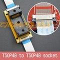 Программа Испытаний Оригинальный ic191-0482-004 TSOP48 На линии тест гнездо сварки SMD TSOP48 к TSOP48 тест разъем Шаг = 0.5 мм