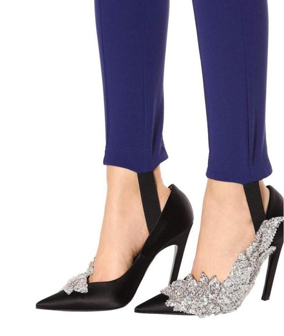 JAWAKYE Runway style Rhinestone Women Party Pumps Silk Pointed Toe Stiletto  high Heels Elegant Lady Crystal. sku  32846425092 935cd8576f09