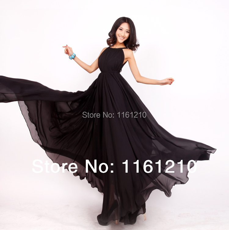 819 Sale Black Formal Long Evening Party Maxi Dress Gown Plus Sizes