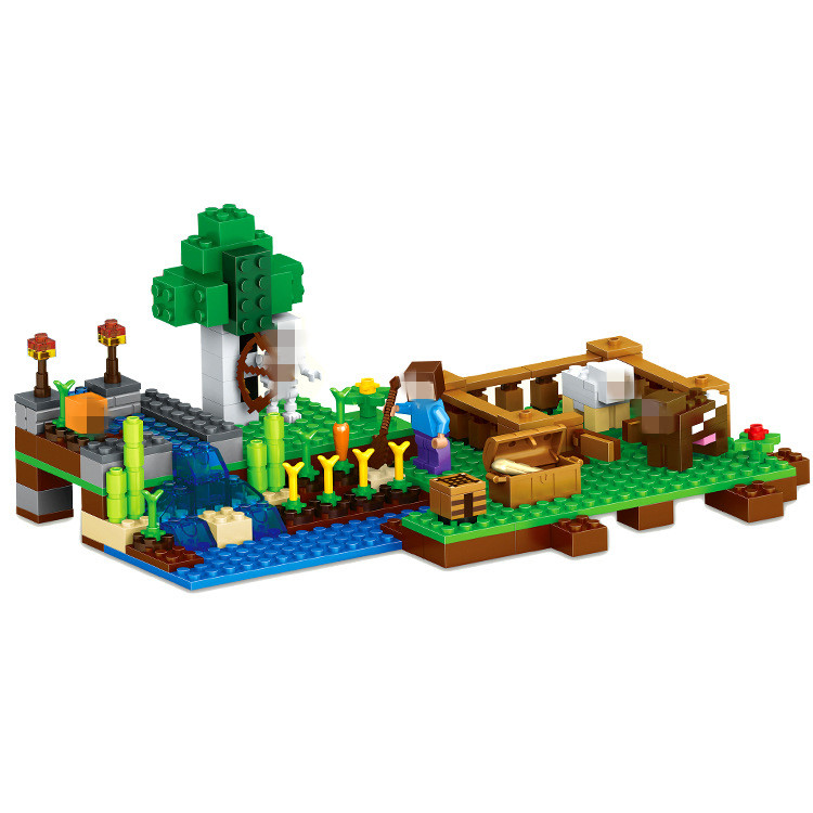 LELE The Farm Building Blocks Sets Bricks My worlds Movie Classic Model Kids Minecrafted Toys For Children Compatible Legoe classic my world minecraft the nether fortress building blocks bricks enlighten toys for children kids lele bela 21122 legoingly