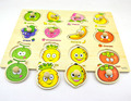 Best seller Factory Price Fruit Recognition Puzzle Educational Developmental Baby Kids Toy 8.25