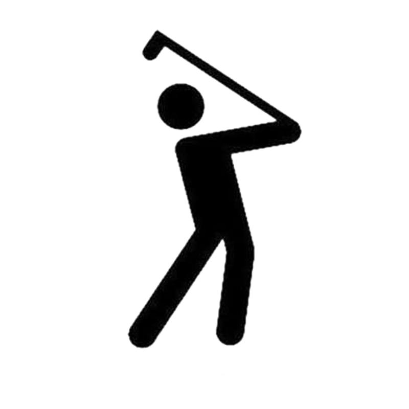 8.2CM*15CM Fashion Golf Sports Car Sticker Decor Black/Silver Vinyl S9-0316
