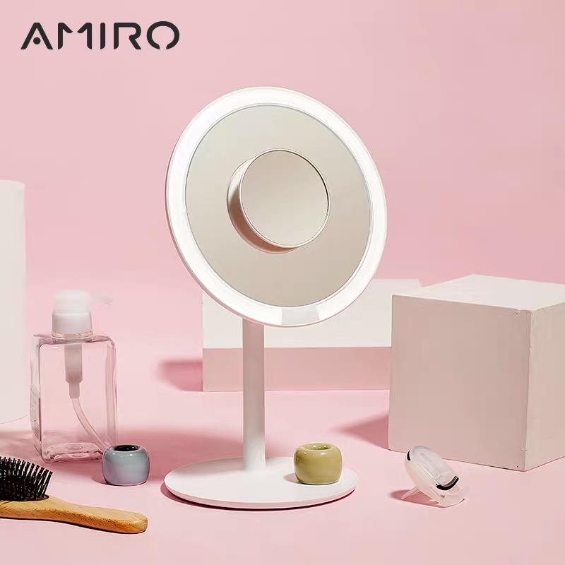 AMIRO 5 Times Magnifier Make Up Mirrors Mirror Facial Brush Cleansing Home Bathroom Cosmetic Mirror Presale