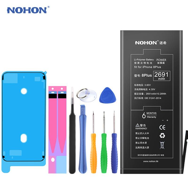 Originale NOHON Per Apple iPhone 6 Plus 7 Plus 8 Più Reale Della Batteria Ad Alta Capacità di Ricambio Del Telefono Bateria Trasporto di Riparazione strumenti
