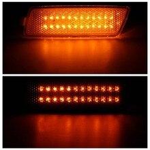 1 Par de Carro do Amortecedor Dianteiro Lado Marcador Luzes LED Indicadores de Volta sinal Para VW MK5 GTI JETTA para para o COELHO 05-09 COM LED