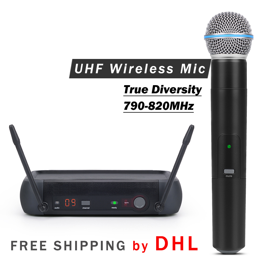 FREE SHIPPING BY DHL True Diversity Professional PGX UHF Wireless Single Handheld Microphone System with Aluminum