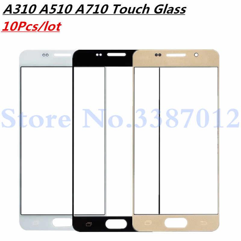10 шт./лот для samsung Galaxy A3 A5 A7 2016 A310 A510 A710 внешнее Сменное стекло, ЖК-дисплей, Передний сенсорный экран, запасные части для сенсорного экрана