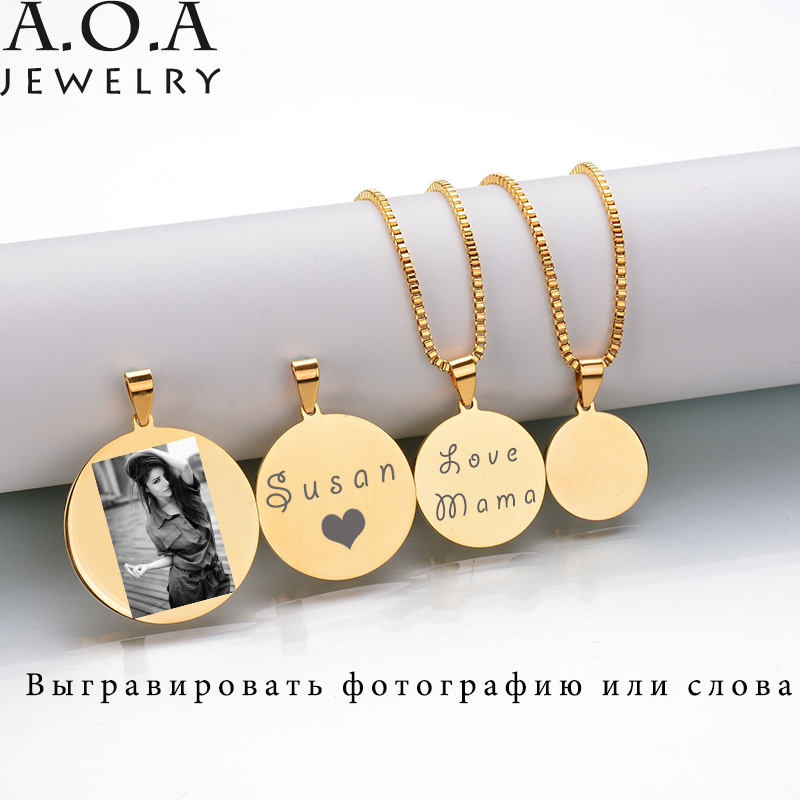 Hot Sale Custom Engraved Necklace Stainless Steel Engraving Blank Necklace Personalized Name Photo Jewelry