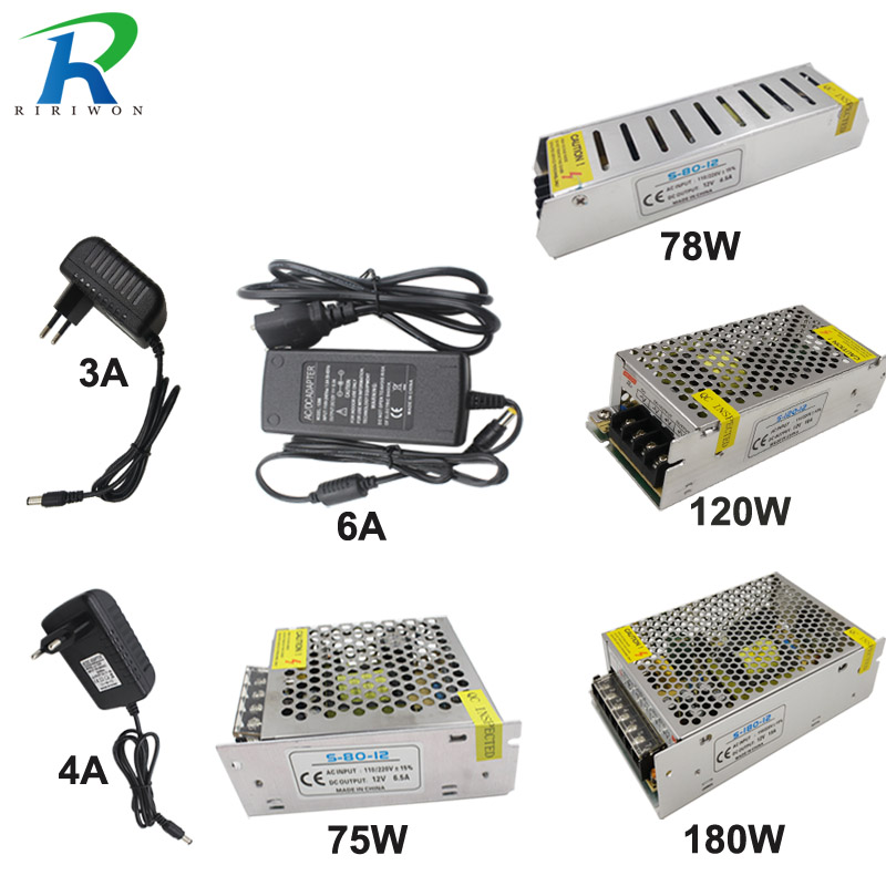 RIRi Won 12V 2A 3A 6A 6.5A 10A 15A 25A 30A 33A DC Switch Switching 24W 75W 120W 180W 300W 360W 400W Power Supply Driver image