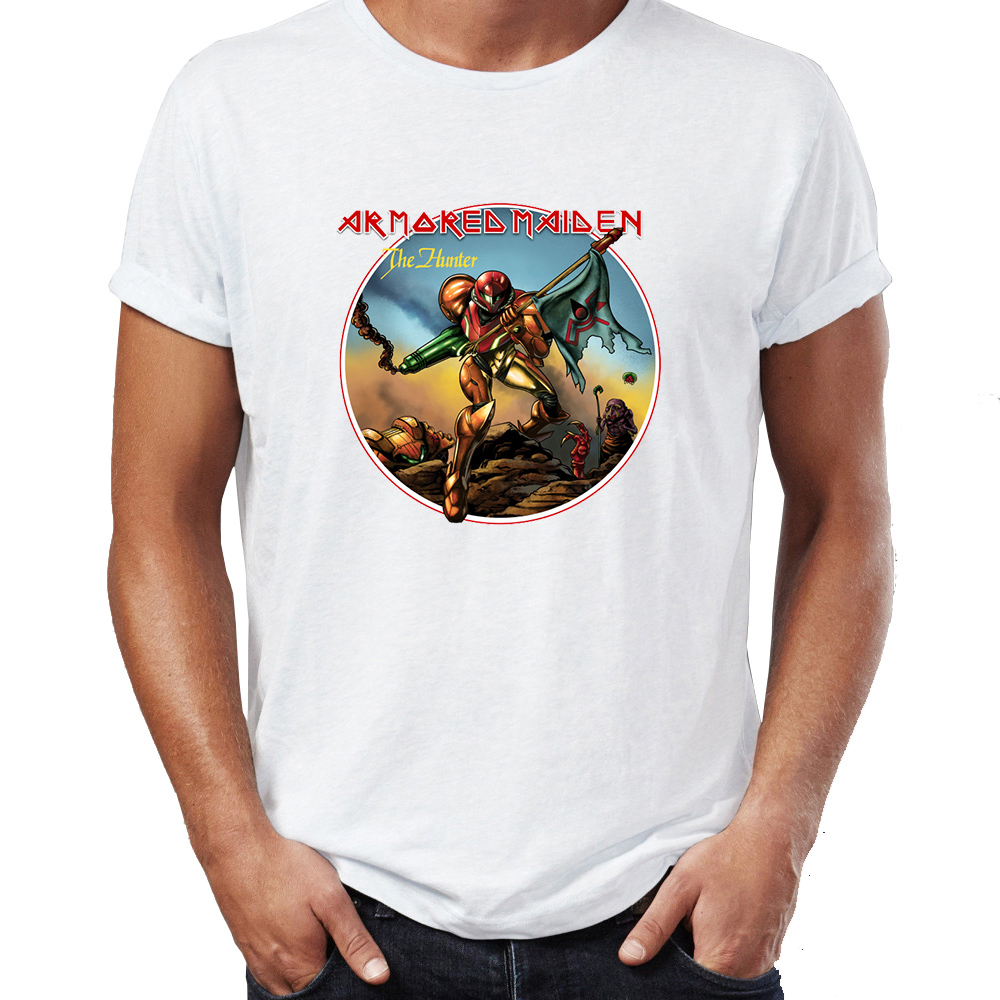 T-shirts Hot Sale Armored Maiden T-shirt Mens Cool Short-sleeve T-shirt The Hottest T-shirt In The World Men's Clothing