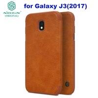 Galaxy J3 2017 NILLKIN Vintage Flip PU Leather Hard Plastic Phone Case For Samsung J3 2017