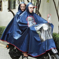 Ultralarge Motorcycle Electric Bicycle Double Poncho Plus Size Mother And Son Thickening Double Poncho Raincoat