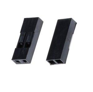 1000 Uds Dupont cabeza 2,54mm 2P 1X2P Dupont de la cáscara de plástico de conector de cabeza de PIN cable de puente carcasa de enchufe hembra