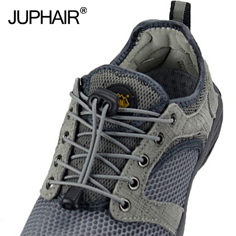 JUP 50 Pairs Adult Child Colorful Locking Shoe Laces Black Buckle Elastic Shoelaces Shoestrings Jogging Triathlon Sports Fitnes