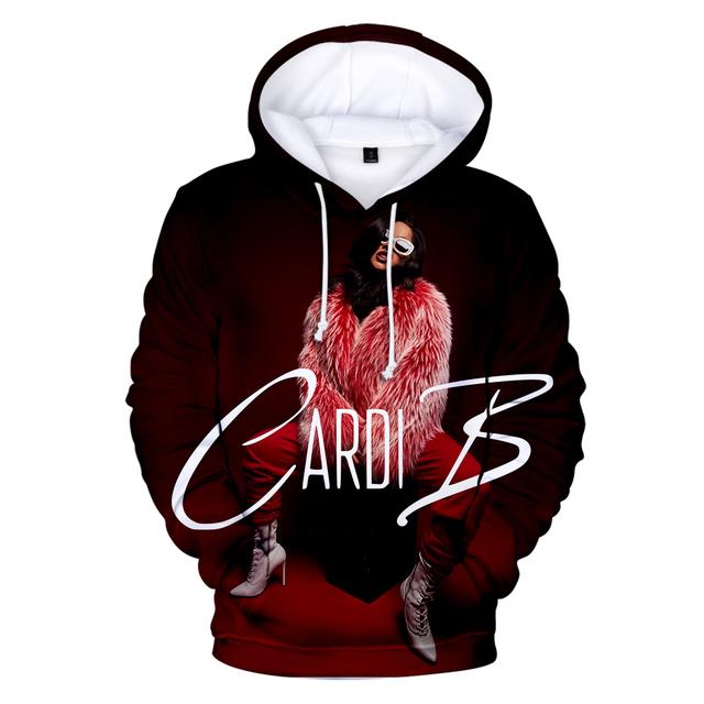 3D CARDI B HOODIE (13 VARIAN)