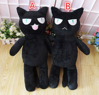 Black cat boyfriend plush toy Japanese anime cat cartoon pet plush doll pillow 50cm high quality cosplay short toy free shipping