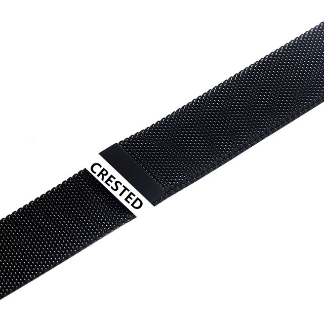 CRESTED Strap For Apple Watch band Milanese Loop apple watch 4 3 band iwatch band 42mm 38mm correa 44mm/40mm pulseira bracelet 4