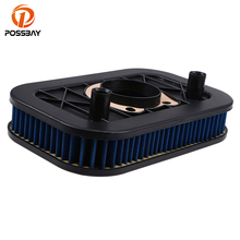 POSSBAY Motorcycle Air Filter Motorbike Air Pod Cleaner for Harley Sportster 883 1200 2007 2008 2009 2010 2011 2012 2013 2014 for harley xl1200x forty eight sportster 48 2010 2011 2012 2013 2014 2015 39mm motorcycle fork triple tree top clamp