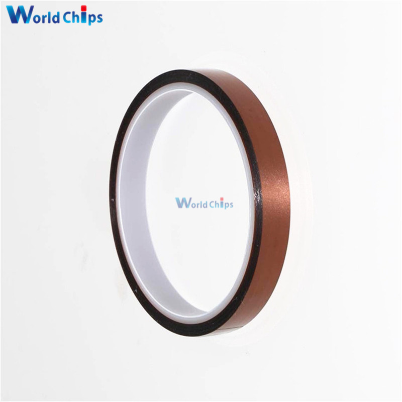 Integrated Circuits Electronic Components & Supplies Diligent 12mm 1.2cm X 30m High Temperature Heat Resistant Polyimide Anti-heat Adhesive Tape 260-300 Degree Clear-Cut Texture
