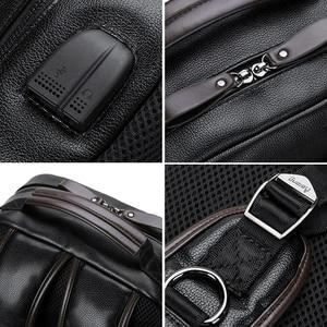 Image 2 - LIELANG Backpack Mens Mochila Masculina Men Fashion Trend Large Capacity Youth Leisure Black Travel Leather Computer Bag Mens