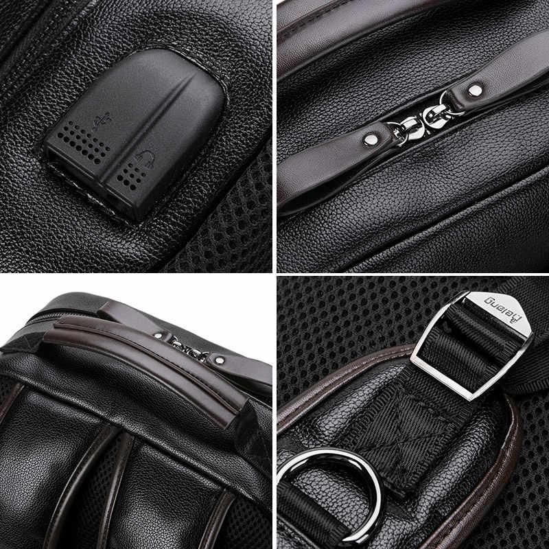 Мужской вместительный рюкзак LIELANG, модная черная кожаная дорожная сумка, молодежный вместительный рюкзак для компьютера