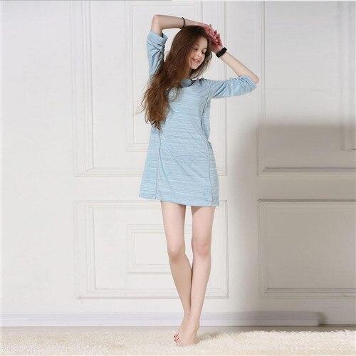 Women Sleepwear 2017 Brand Modal Sleep Lounge Indoor Clothing Long Nightgowns Sexy Home Dress Vintage Sweet Nightdress