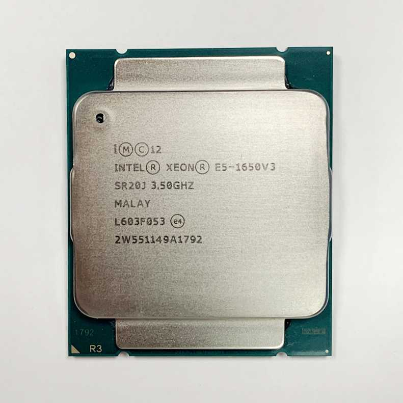 معالج Intel Xeon E5 1650 V3 3.5GHz 6 Core 15Mb كاش LGA2011-3 CPU E5 1650-V3