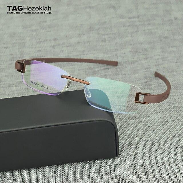 c72cb2e4b60 2018 Brand eyeglasses rimless Vintage myopia eyeglasses frame TR90 computer Retro  glasses frame optical women men
