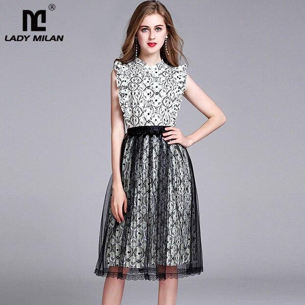 2018 Spring Summer Womens O Neck Sleeveless Ruffles Floral Printed Tassels Patchwork Elegant Fashion Dresses