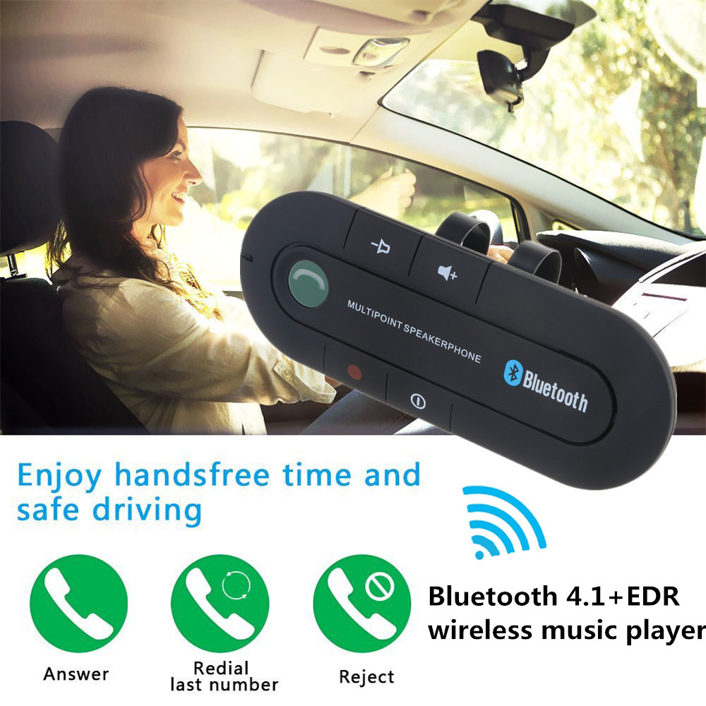 Sun Visor Bluetooth Mp3 Player Wireless Audio Receiver Handsfree Car Kit Speakerphone With Microphone For BMW Audi Ford Cars