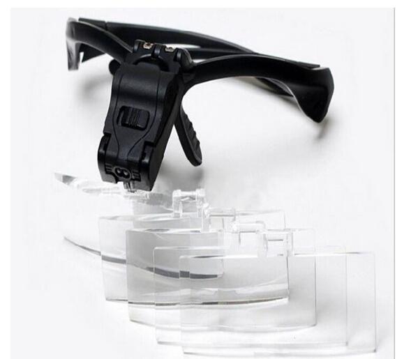 1.5X, 2.5X, Multipower Cílios Olho LEVOU Clipe de Óculos Lupa 3.5X