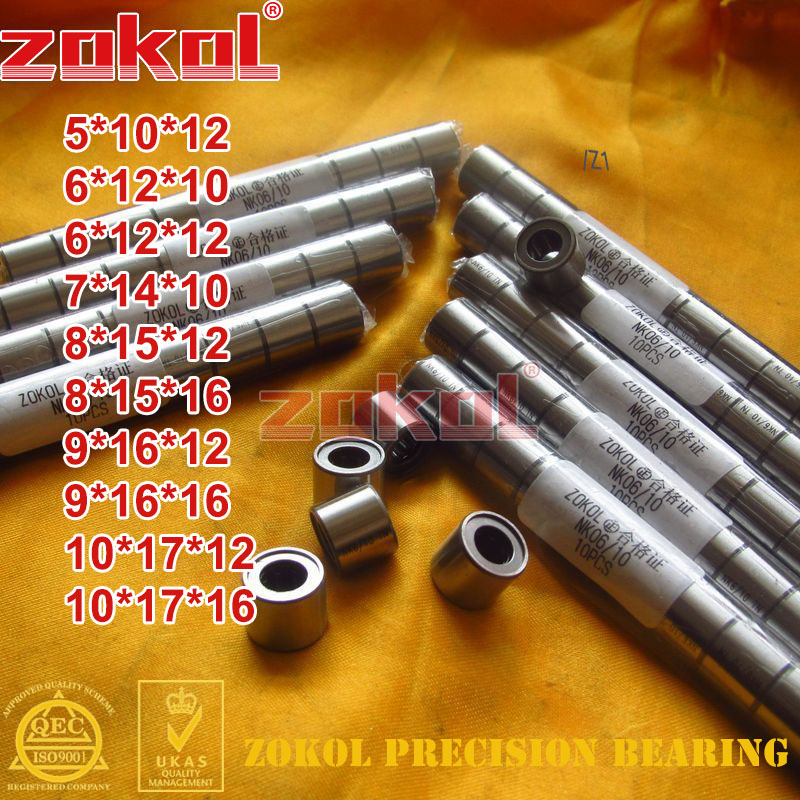 ZOKOL NK 05/12 NK06/10 NK06/12 NK07/10 NK08/12 NK09/12 NK09/16 NK10/12 NK10/16 Needle Roller Bearings With-out Inner Ring