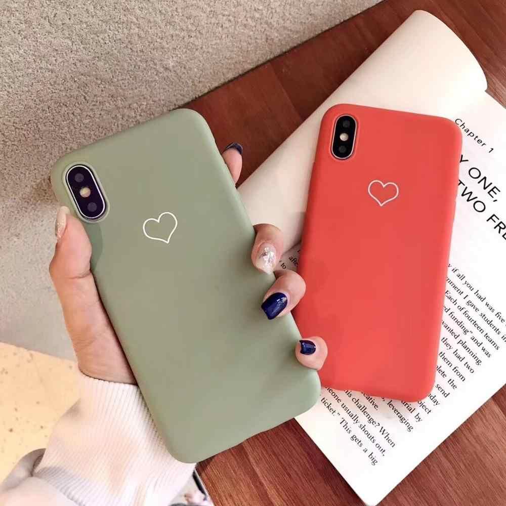 Lovecom untuk iPhone 11 Pro Max XR X Max 6 6 S 7 7 Plus X Menyepuh Dgn Listrik Jantung vintage Lucu Permen Lembut TPU Back Cover