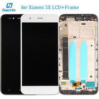 Xiaomi Mi5X Mi 5X LCD Display Touch Screen Frame With Back Light Button Flex Cable Glass