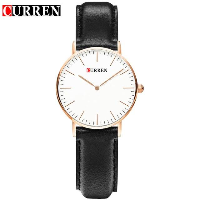 19abad536e7a 2017 amantes relojes pareja simple relojes curren marca de lujo  ultra-delgado clok ladies relojes