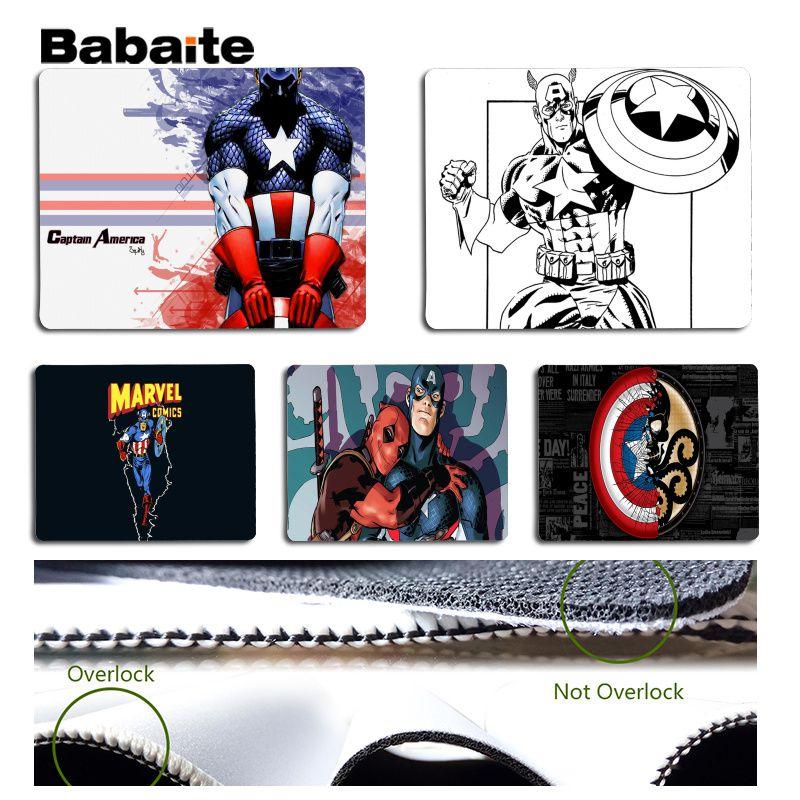 Babaite New Design Captain America Large Mouse pad PC Computer mat Size for 18x22cm 25x29cm Rubber Mousemats