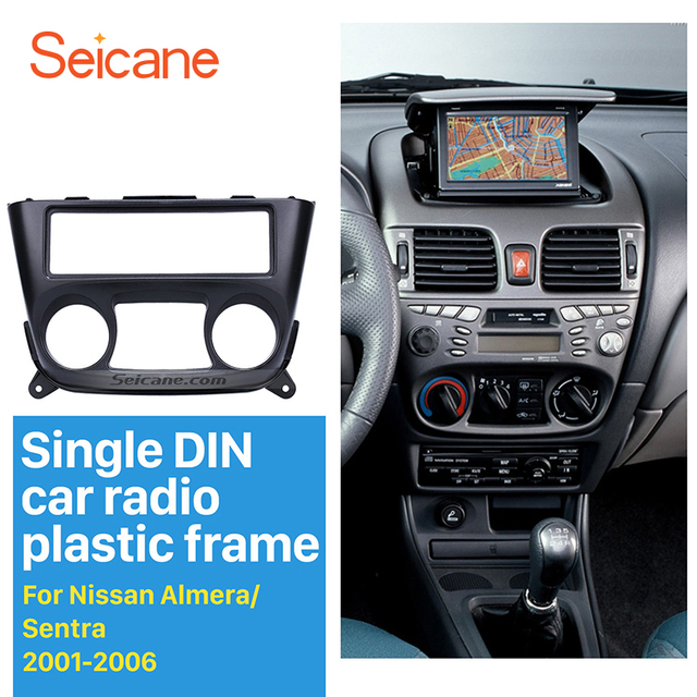 Seicane 1 Din Car Stereo Radio Fascia Panel Trim Kit for 2001 2006 ...