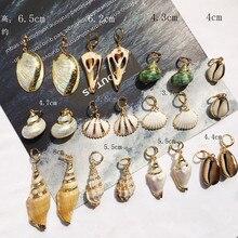 Korean New Sweet Natural Shell Dangle Women Earrings Bohemian Lover Heart Sea Flower Drop Summer Ear Jewelry 2019
