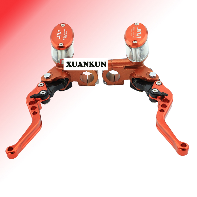 где купить  XUANKUN Off - Road Motorcycle CNC Brake On The Pump Assembly Straight On The Pump Modified Hydraulic Clutch Pump Visible Oil Cup  дешево