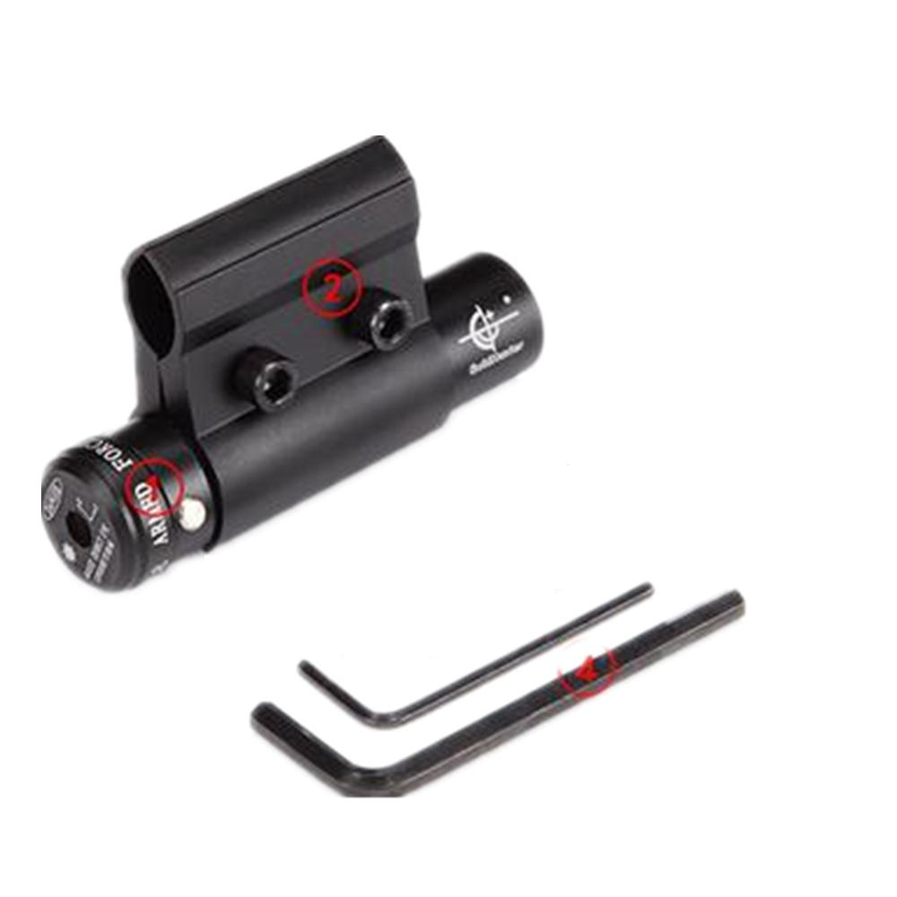 Visão infravermelho mira a laser Mira laser vermelho Com O Objetivo apontar o instrumento com o monte para rifle scope 9mm a 22mm montar ferroviário