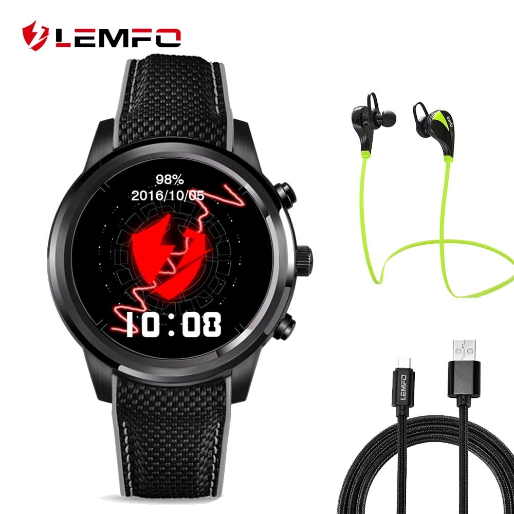 2017 font b Best b font Lemfo LEM5 smart watch phone 1GB 8GB Android 5 1