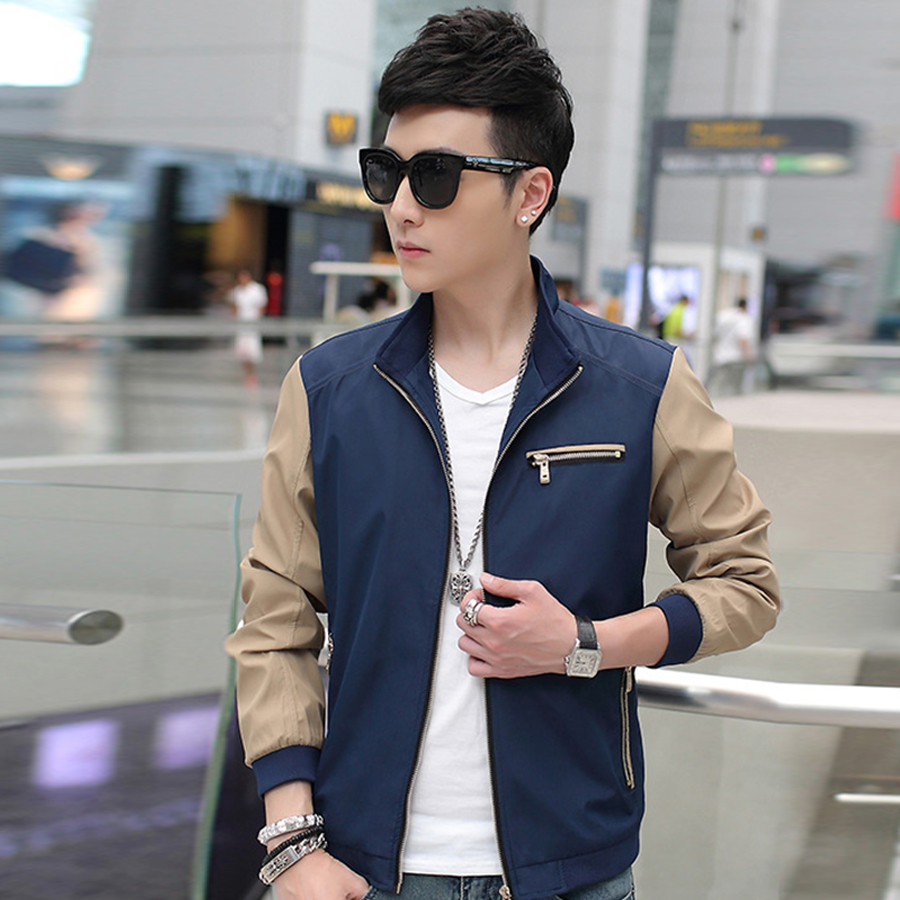 New Autumn Winter Men Jacket 2016 Hot Sale Spring Men's Solid Fashion Jacket Male Casual Slim Fit Collar Jacket  Plus Size M-5XL