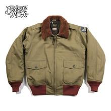 Bronson USAAF Chaqueta de vuelo B 10 para hombre, modelo 1943, abrigo de vuelo intermedio, chaqueta Bomber Vintage B10