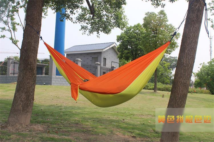 2 people Hammock 16 Camping Survival garden hunting swing Leisure travel Double Person Portable Parachute outdoor furniture 11