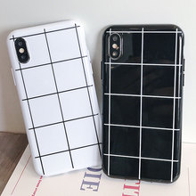 Lattice TPU Phone Case For iphone XR XS X Xs Max 7 8 Plus Cases Black White Business Cover For iphone 6s 6 Plus Plain Cover plain tpu phone case for iphone 7 plus 8 plus x xs xr xs max case soft tpu cases for iphone 7 8 6s 6 plus case business cover