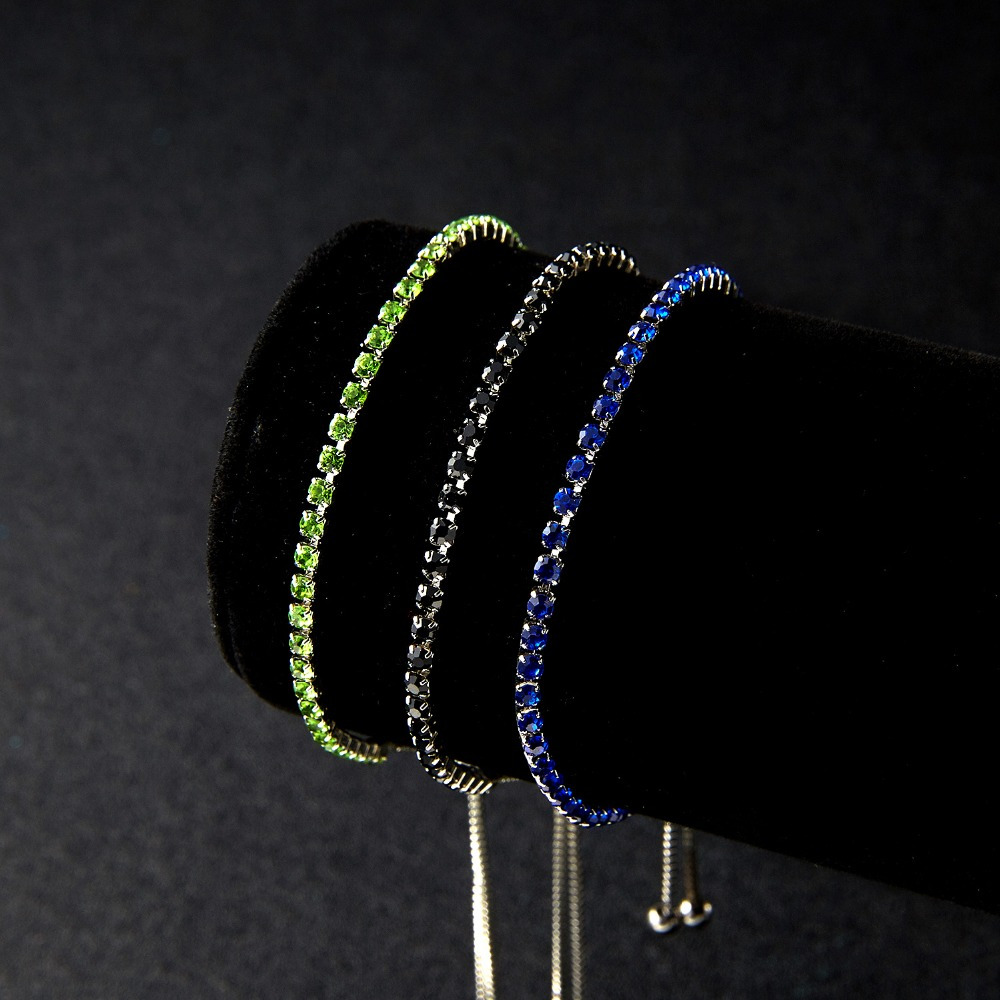 RINHOO Fashion Cubic Zirconia Tennis Bracelet & Bangle Adjustable Pulseras Mujer Charm Bracelet For Women Bridal Wedding Jewelry 8