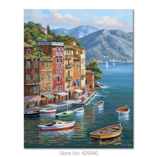 Dipinti a mano Paesaggi Marini pittura per il salotto decora una ...