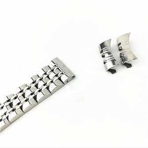 Image 5 - מעוקל סוף 7 חרוזים נירוסטה רצועת השעון מתאים עבור Samsung Tissot שעון Band רצועת צמיד 12mm 24mm פרפר אבזם
